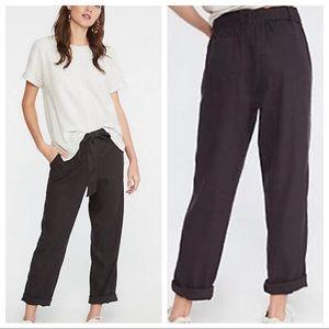Lou & Grey LOFT Tie Waist Linen Pants Crop